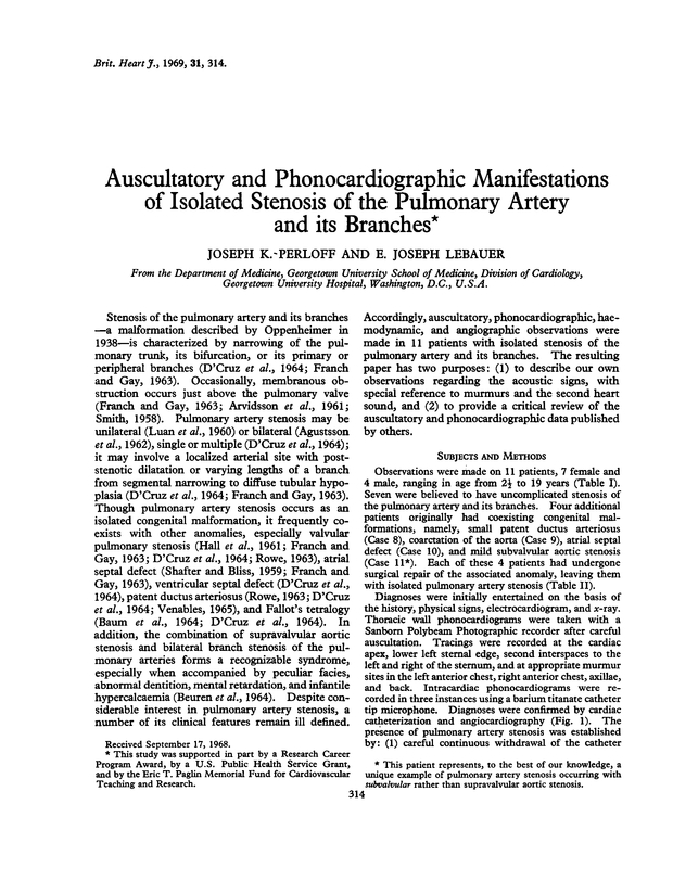 Auscultatory and phonocardiographic manifestations of