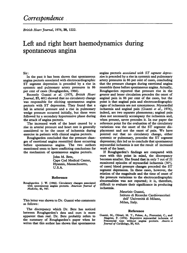 Left and right heart haemodynamics during spontaneous angina