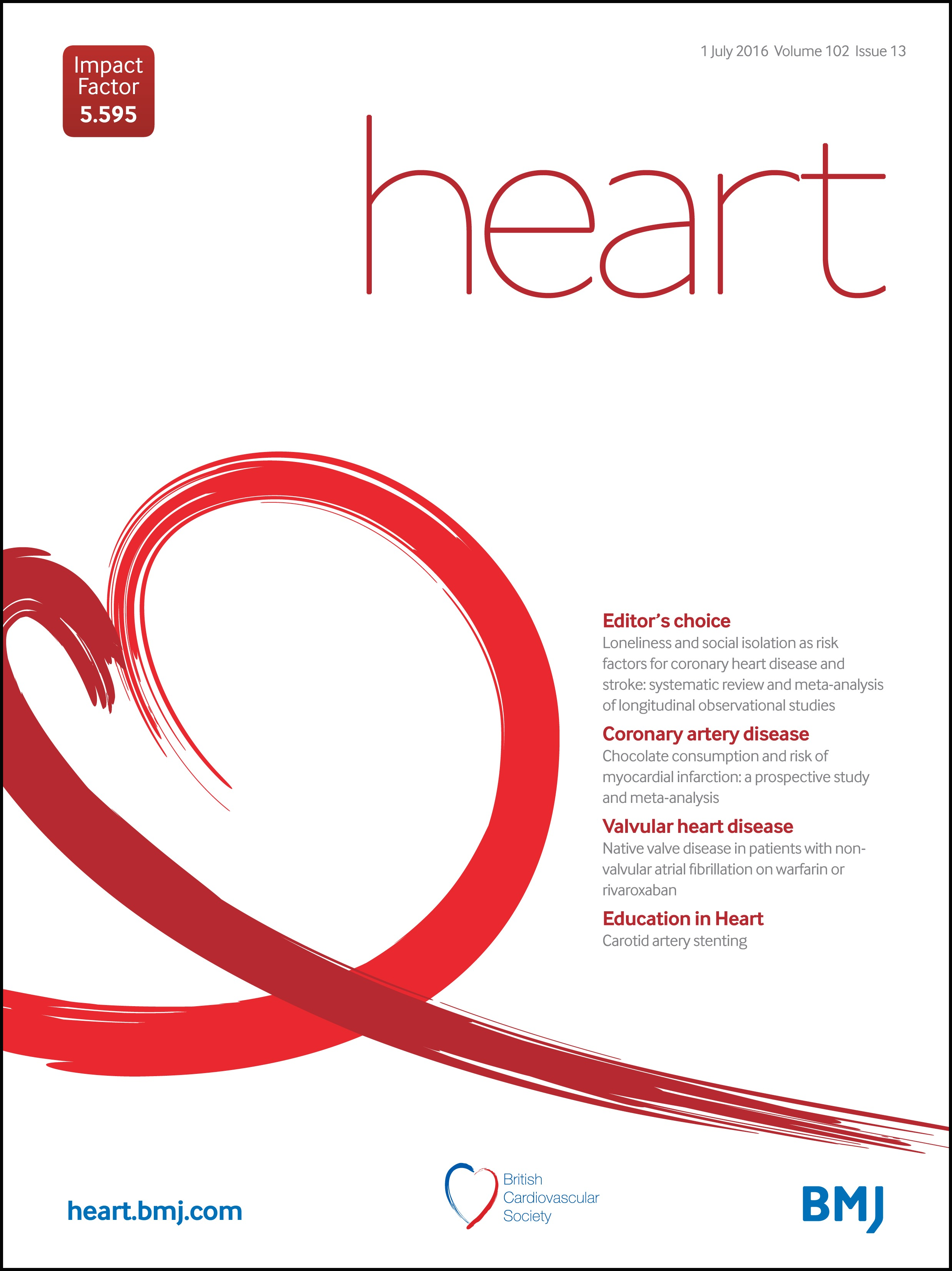 Loneliness And Social Isolation As Risk Factors For Coronary