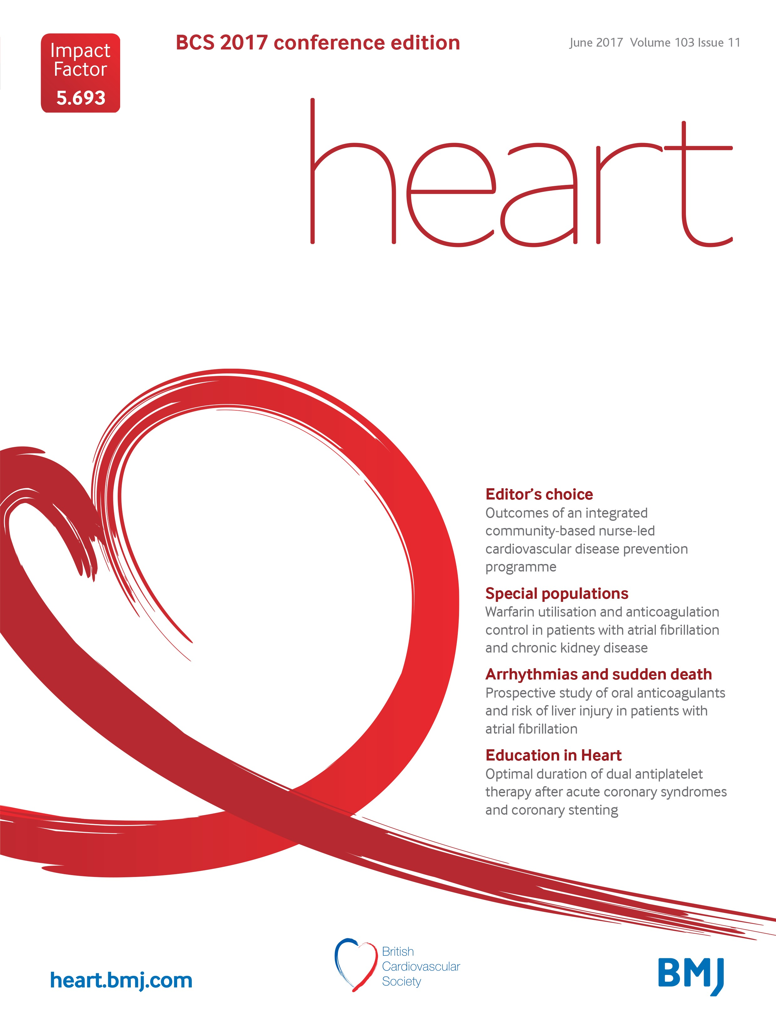 Warfarin Utilisation And Anticoagulation Control In Patients With Atrial Fibrillation And Chronic Kidney Disease Heart